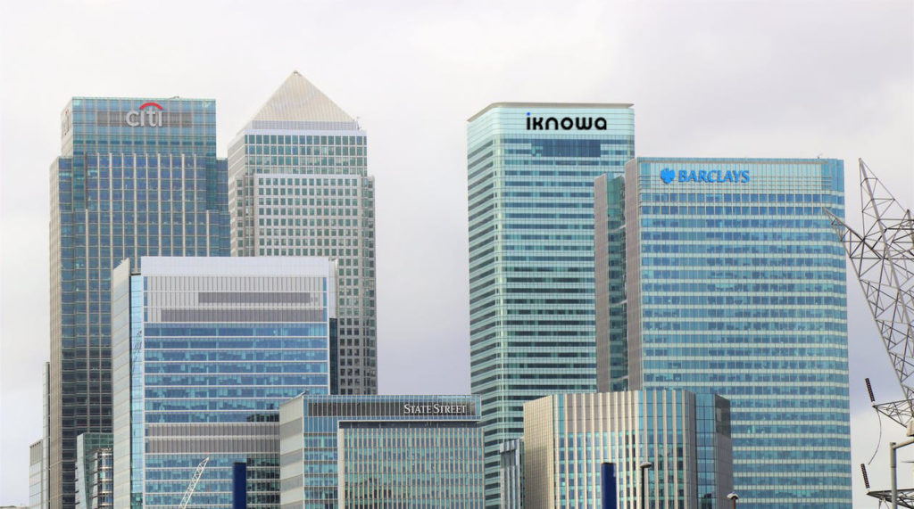 Image of banking buildings including Iknowa LTD